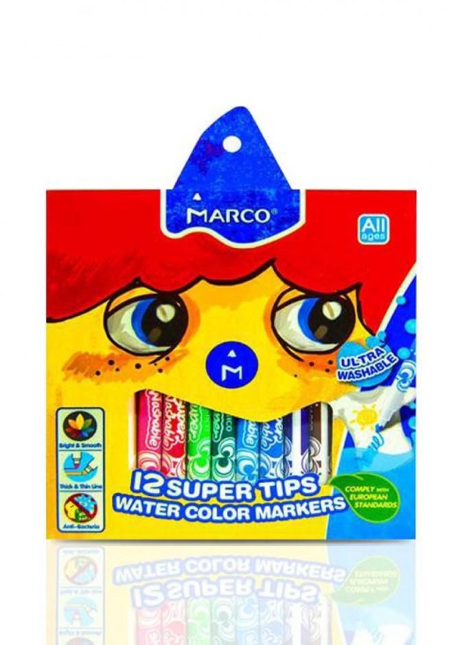 Фломастери Marco Super Washable 1630-12CB, 12 кольорів