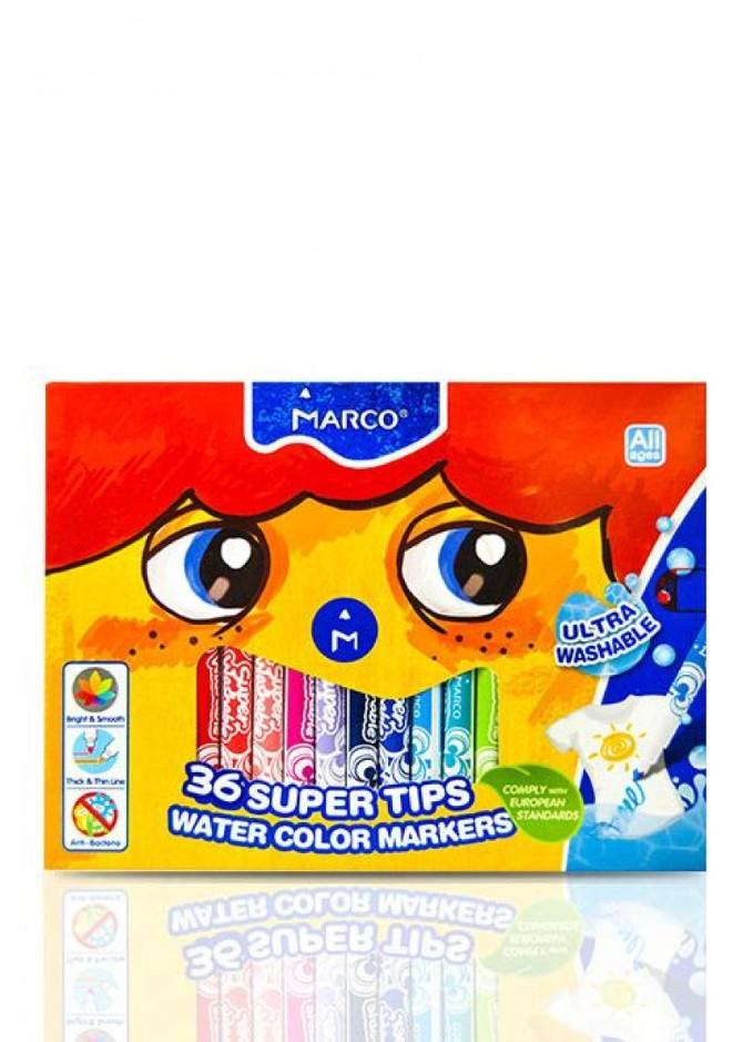 Фломастери Marco Super Washable 1630-36CB, 36 кольорів