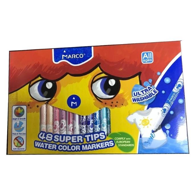 Фломастери Marco Super Washable 1630-48CB, 48 кольорів