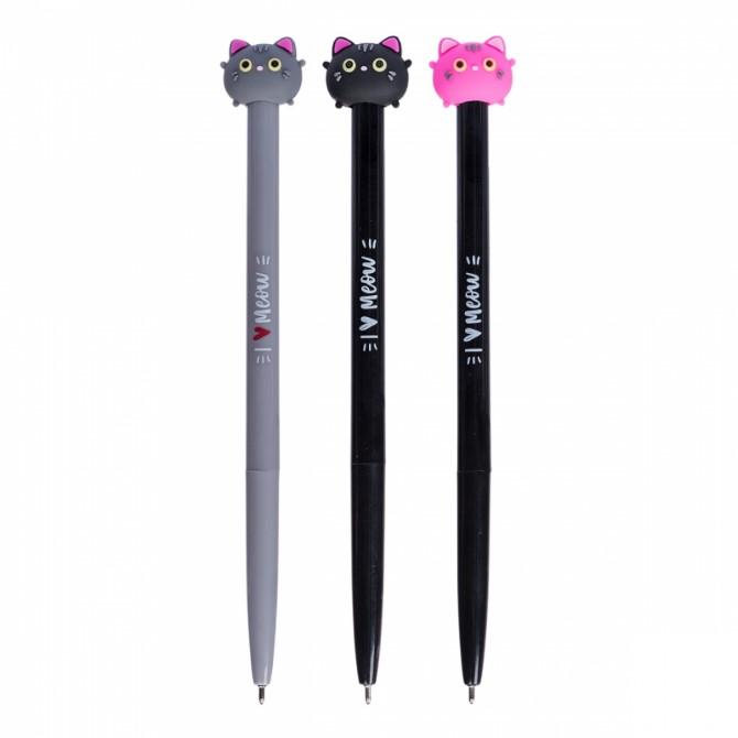 """Ручка YES шарико-масляна """"Sweety Kitty"""", 0,7 мм, синя 411908"""