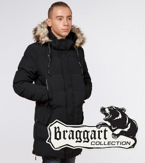 Молодіжна зимова куртка Braggart Youth, чорний