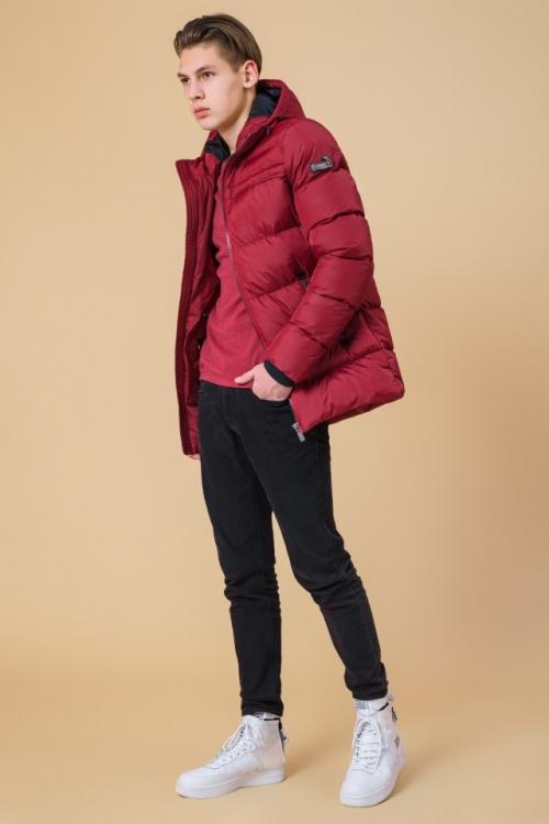 """Підліткова зимова куртка Braggart """"Kids"""" червона"""