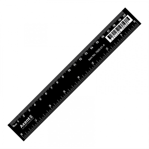 Лінійка пластикова Axent 20 см чорна