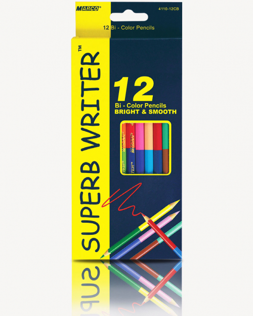 """Олівці кольорові двосторонні """"Super writer"""" Marko 12 кольорів 4110-12CB"""