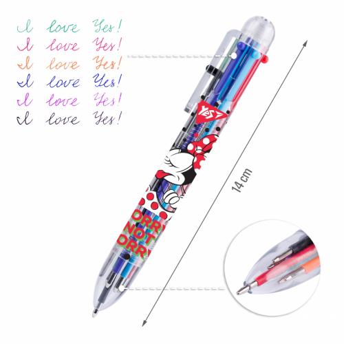 Ручка кулькова YES Minnie Mouse, 1,0 мм, 6 кольорів 412041