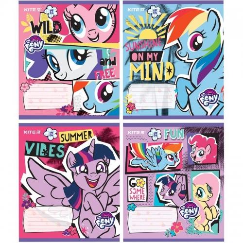 Зошит шкільний Kite My Little Pony, 12 аркушів, клітинка
