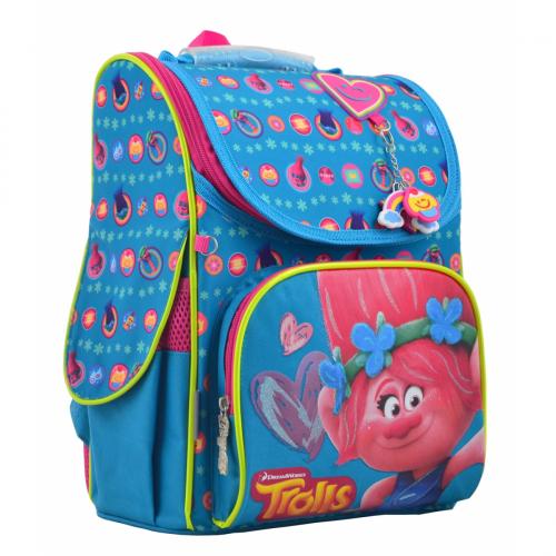 Рюкзак шкільний каркасний 1 Вересня H-11Trolls turquoise