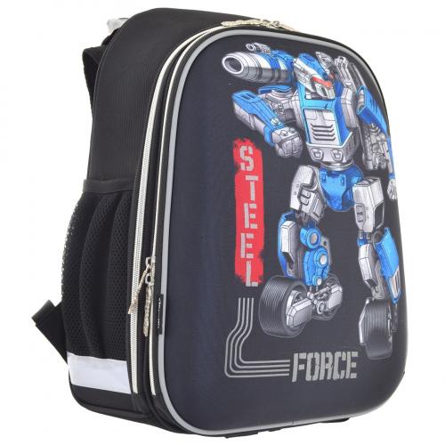 Рюкзак шкільний каркасний 1 Вересня H-12 Steel Force 555950
