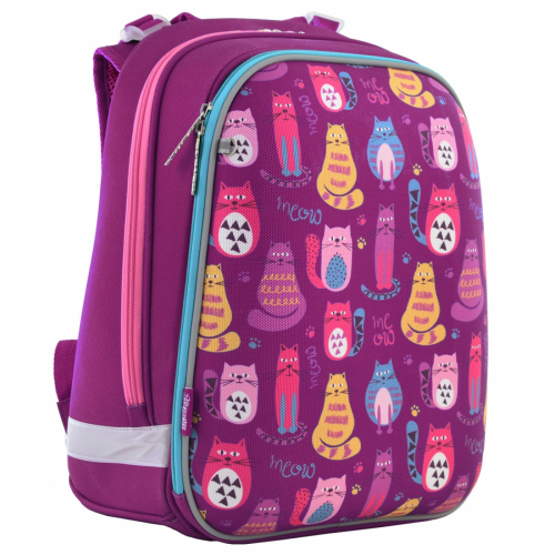 Рюкзак шкільний каркасний 1 Вересня H-12 Cute cats 556024