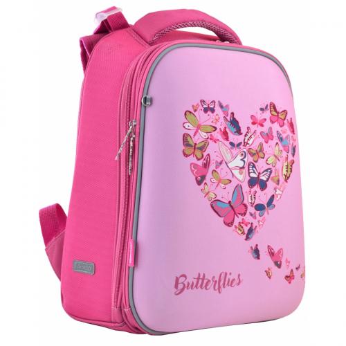 Рюкзак шкільний каркасний 1 Вересня H-12 Delicate butterflies 556040