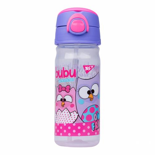 """Пляшка для води з трубочкою YES """"Bubu"""", 450мл 707432"""