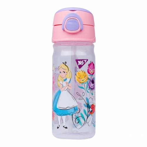 """Пляшка для води з трубочкою YES """"Alice"""", 450мл 707433"""