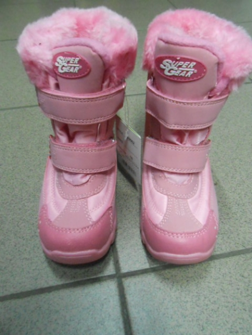 Термо Ботинки Super Gear розовые