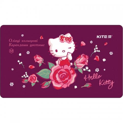 Олівці кольорові шестигранні Kite Hello Kitty, 12 шт.