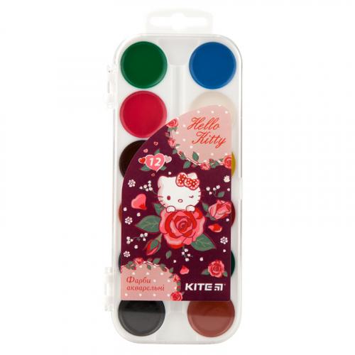 Фарби акварельні Kite Hello Kitty, 12 кольорів HK19-061