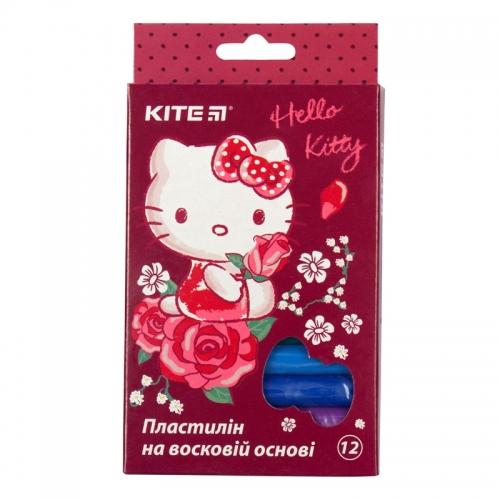 Пластилін восковий Kite Hello Kitty HK19-086, 12 кольорів, 200 г