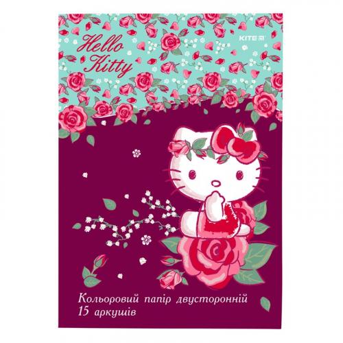 Папір кольоровий двосторонній Kite Hello Kitty HK19-250