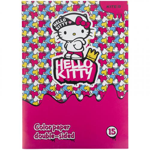 Папір кольоровий двосторонній Kite Hello Kitty HK21-250