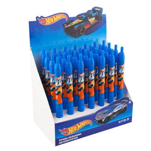 Ручка кулькова автоматична Kite Hot Wheels HW19-039