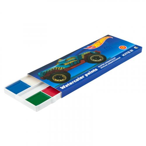 Фарби акварельні в картонній упаковці Kite Hot Wheels HW19-041, 12 кольорів