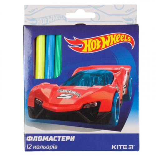 Фломастери Kite Hot Wheels HW19-047, 12 кольорів