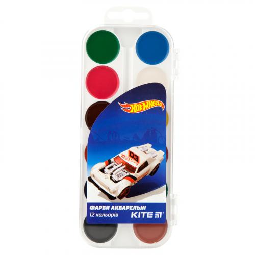 Фарби акварельні Kite Hot Wheels, 12 кольорів HW19-061