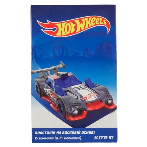 Пластилін восковий Kite Hot Wheels HW19-087, 15 кольорів, 225 г