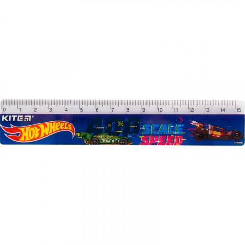 Лінійка пластикова Kite Hot Wheels HW19-090, 15 см