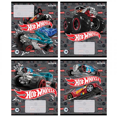 Зошит шкільний Kite Hot Wheels HW20-237, 18 аркушів, лінія