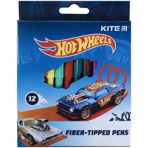 Фломастери Kite Hot Wheels HW21-047, 12 кольорів