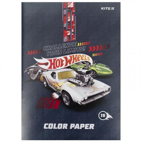 Папір кольоровий двосторонній Kite Hot Wheels HW21-250