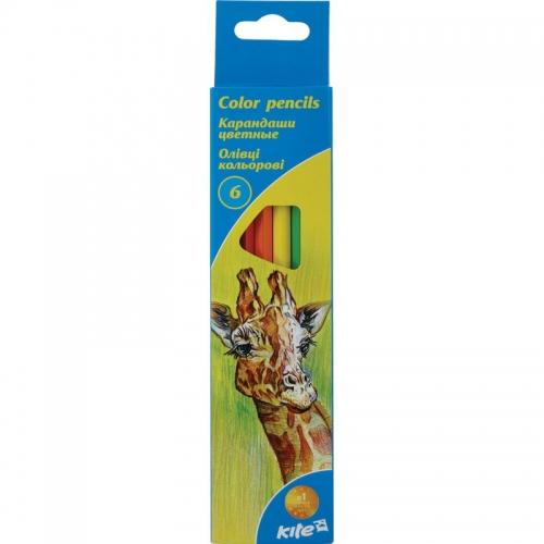 Олівці кольорові Kite, 6 кольорів