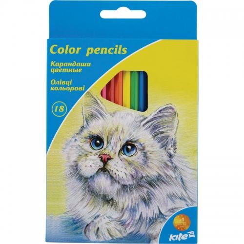 Олівці кольорові Kite, 18 кольорів