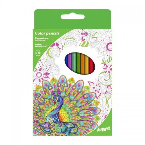Карандаши цветные Kite, 18 цветов