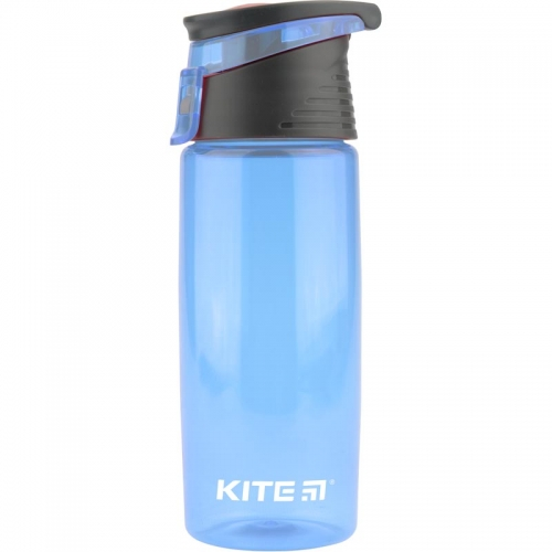 Пляшечка для води Kite 550 мл, блакитна.