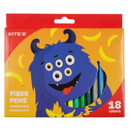 Фломастери Kite Jolliers K19-043, 18 кольорів