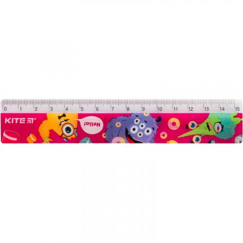 Лінійка пластикова Kite Jolliers K19-090-1, 15 см