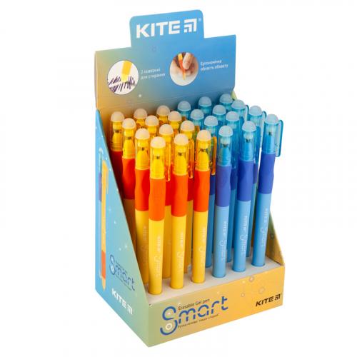 """Ручка гелева Kite Smart K19-098-02 """"пиши-стирай"""", синя"""