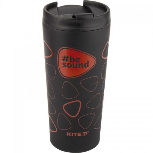 Термокружка Kite BeSound K19-303-02, 440 мл, чорна