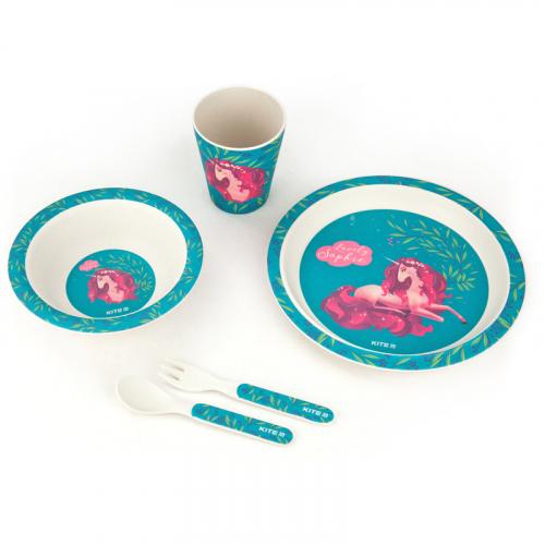 Набір посуду з бамбука у коробці Kite Lovely Sophie K20-313-1, 5 предметів