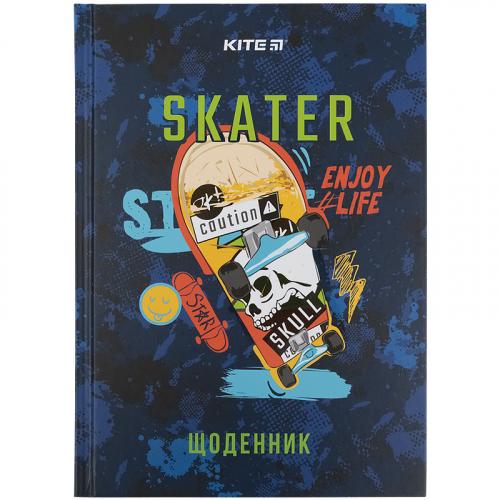 Щоденник шкільний Kite Skate K21-262-6, тверда обкладинка