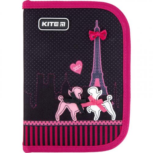 Пенал без наповнення Kite Education Weekend In Paris K21-622-1, 1 відділення, 2 відвороти