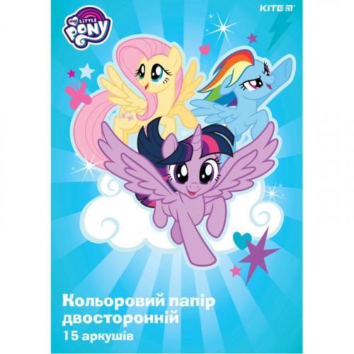 Папір кольоровий двосторонній Kite My Little Pony LP19-250