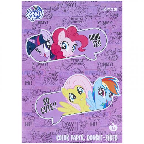 Папір кольоровий двосторонній Kite My Little Pony LP21-250
