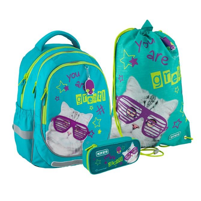 Шкільний Набір рюкзак + пенал + сумка для взуття Kite Education Rachael Hale SET_R20-700M