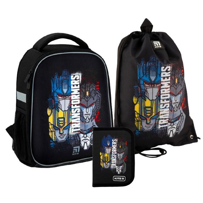 Шкільний Набір рюкзак + пенал + сумка для взуття Kite Education Transformers SET_TF20-555S