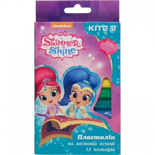 Пластилін восковий Kite , 12 кольорів, Shimmer&Shine