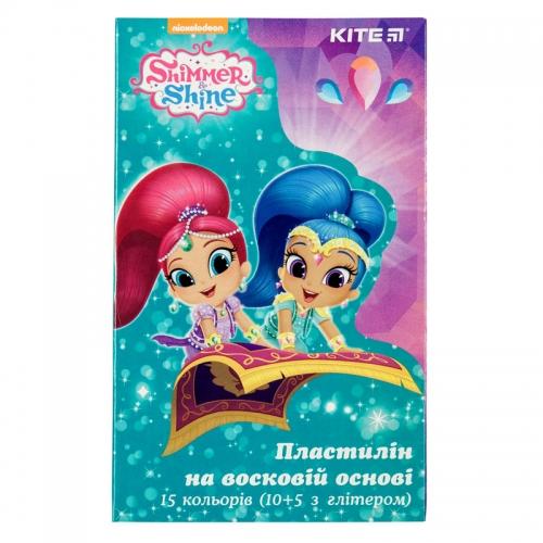 Пластилін восковий Kite Shimmer&Shine SH19-087, 15 кольорів, 225 г