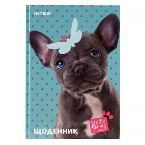 Щоденник шкільний Kite Studio Pets SP19-262-2, тверда обкладинка