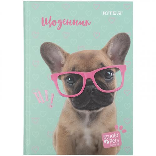 Щоденник шкільний Kite Studio Pets SP21-262-1, тверда обкладинка